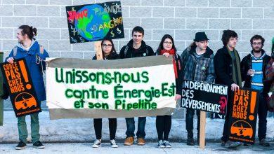 Photo of L'AGECEM en lutte à l'oléoduc du projet Énergie-Est de l'entreprise Transcanada !