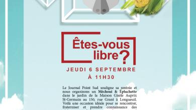 Photo of Êtes-vous libre(s) le jeudi 6 septembre à 11h30 ?